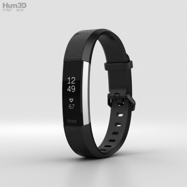 Fitbit Alta HR Black Stainless Steel 3D model