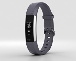 3D model of Fitbit Alta HR Blue Gray