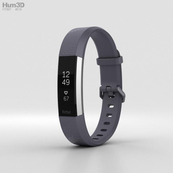 Fitbit Alta HR Blue Gray 3D model