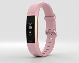 3D model of Fitbit Alta HR Soft Pink