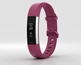 3D model of FitBit Alta HR Fuchsia