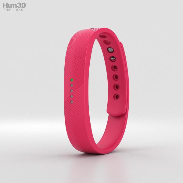 Fitbit Flex 2 Magenta 3D model