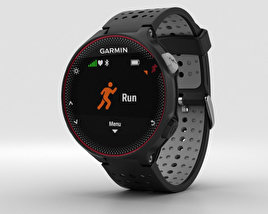3D model of Garmin Forerunner 235 Black and Gray