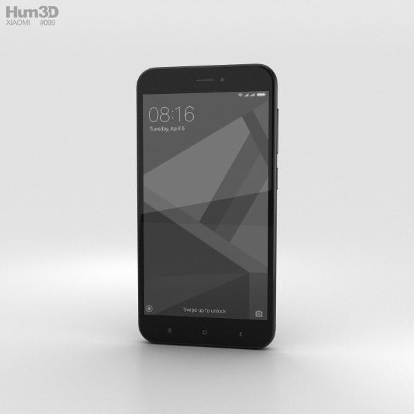 Xiaomi Redmi 4X Black 3D model