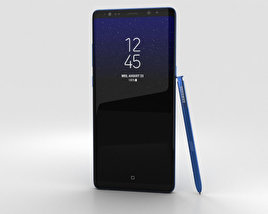 3D model of Samsung Galaxy Note 8 Deepsea Blue