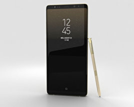 3D model of Samsung Galaxy Note 8 Maple Gold