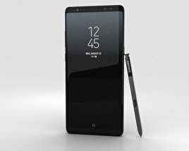 3D model of Samsung Galaxy Note 8 Midnight Black