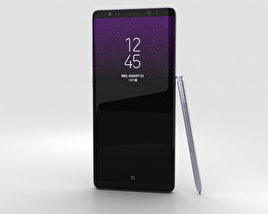 3D model of Samsung Galaxy Note 8 Orchid Grey