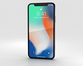 Apple iPhone X Silver 3D model