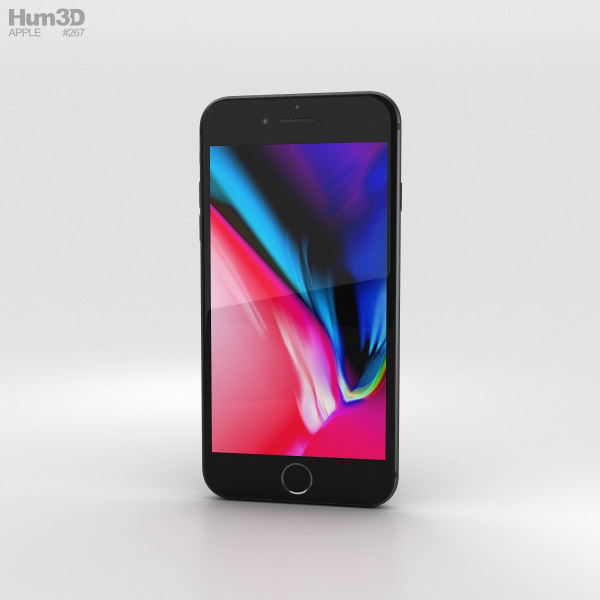 3D model of Apple iPhone 8 Plus Space Gray