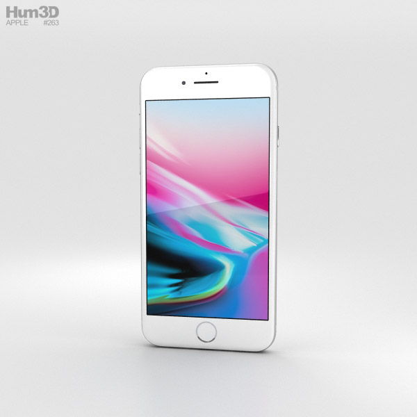 3D model of Apple iPhone 8 Silver