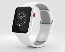 3D model of Apple Watch Edition Series 3 38mm GPS White Ceramic Case Soft White/Pebble Sport Band
