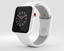 3D model of Apple Watch Edition Series 3 42mm GPS White Ceramic Case Soft White/Pebble Sport Band
