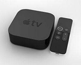 3D model of Apple TV 4K
