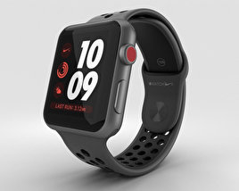 3D model of Apple Watch Series 3 Nike+ 42mm GPS Space Gray Aluminum Case Anthracite/Black Sport Band