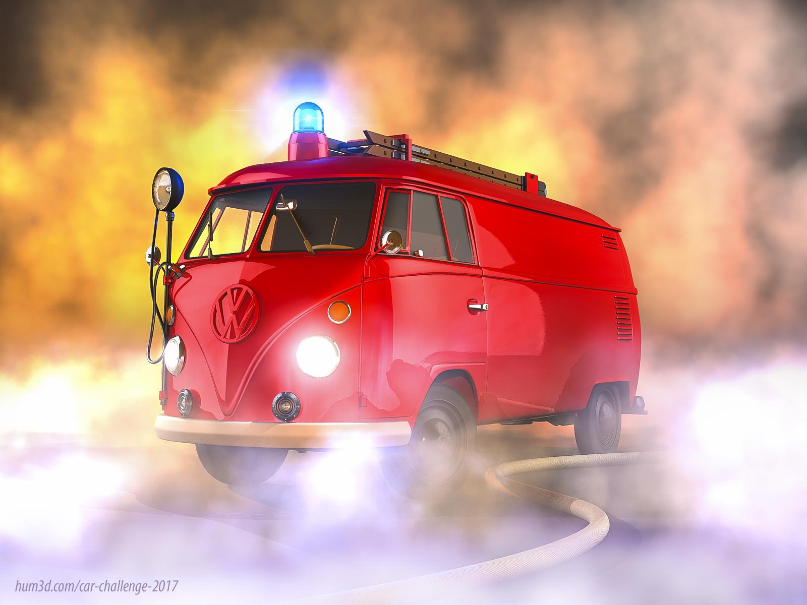Firebus 3d art