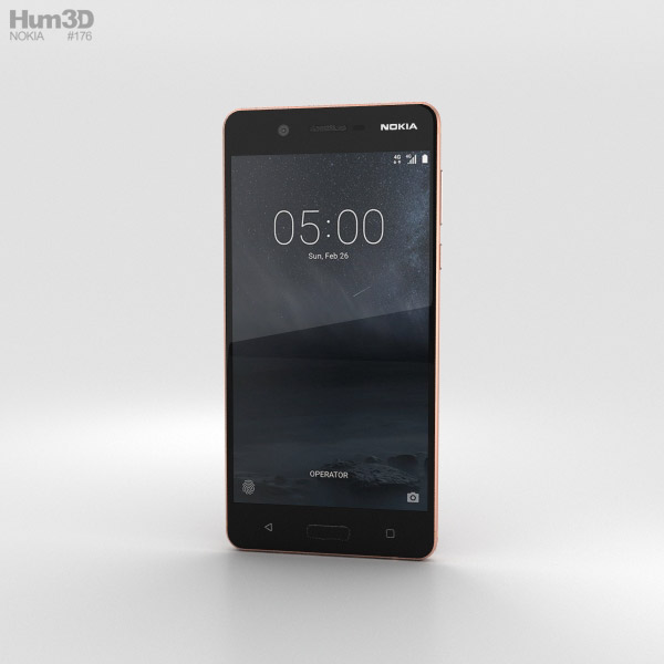 Nokia 5 Copper 3D model