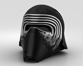3D model of Kylo Ren Helmet