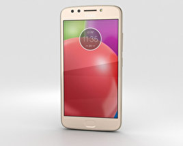 3D model of Motorola Moto E4 Fine Gold