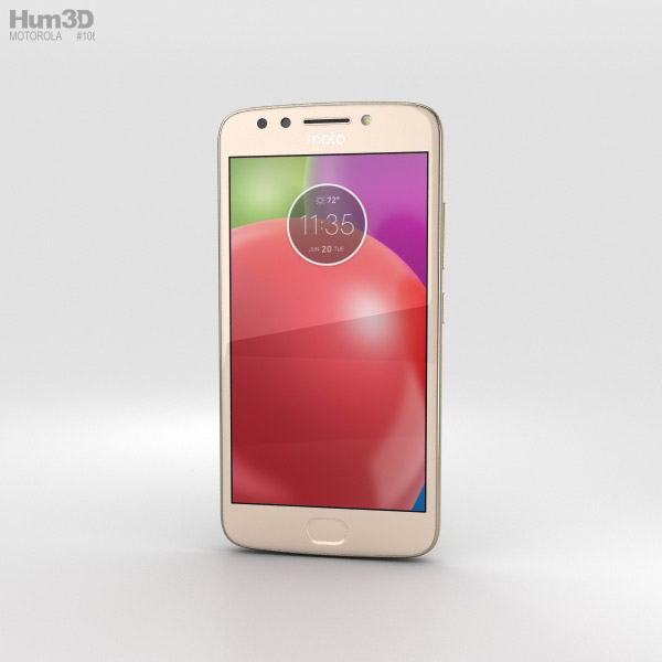 Motorola Moto E4 Fine Gold 3D model