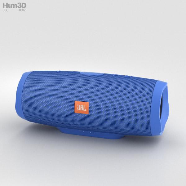JBL Charge 3 Blue 3D model