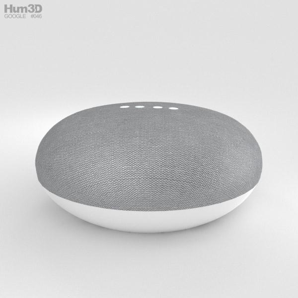 Google Home Mini Chalk 3D model