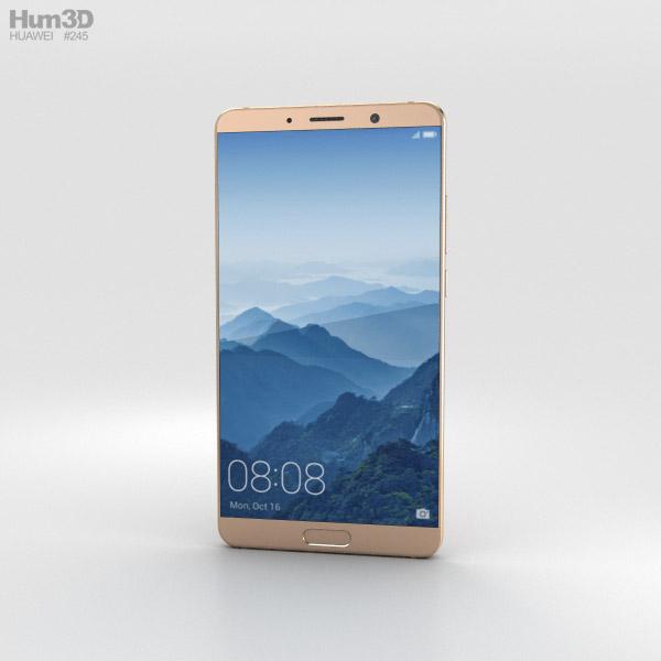 Huawei Mate 10 Mocha Brown 3D model