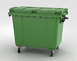 3D model of Large Garbage Container