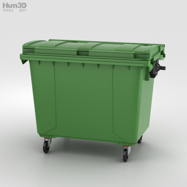 Large Garbage Container 3D model