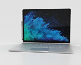 3D model of Microsoft Surface Book 2 15-inch