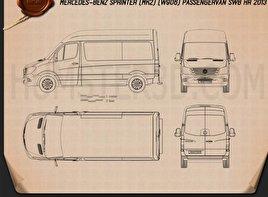 Mercedes-Benz Sprinter Passenger Van 2013 Blueprint
