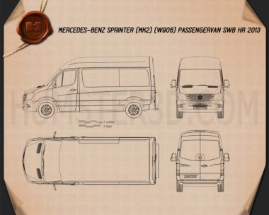 Mercedes-Benz Sprinter Passenger Van 2013 Blueprint