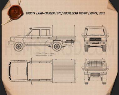 Toyota Land Cruiser (J70) Double Cab Pickup 2012 Blueprint