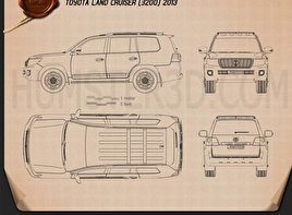 Toyota Land Cruiser (J200) 2013 Blueprint