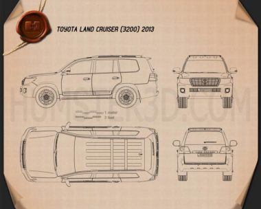 Toyota Land Cruiser (J200) 2013 Blueprint