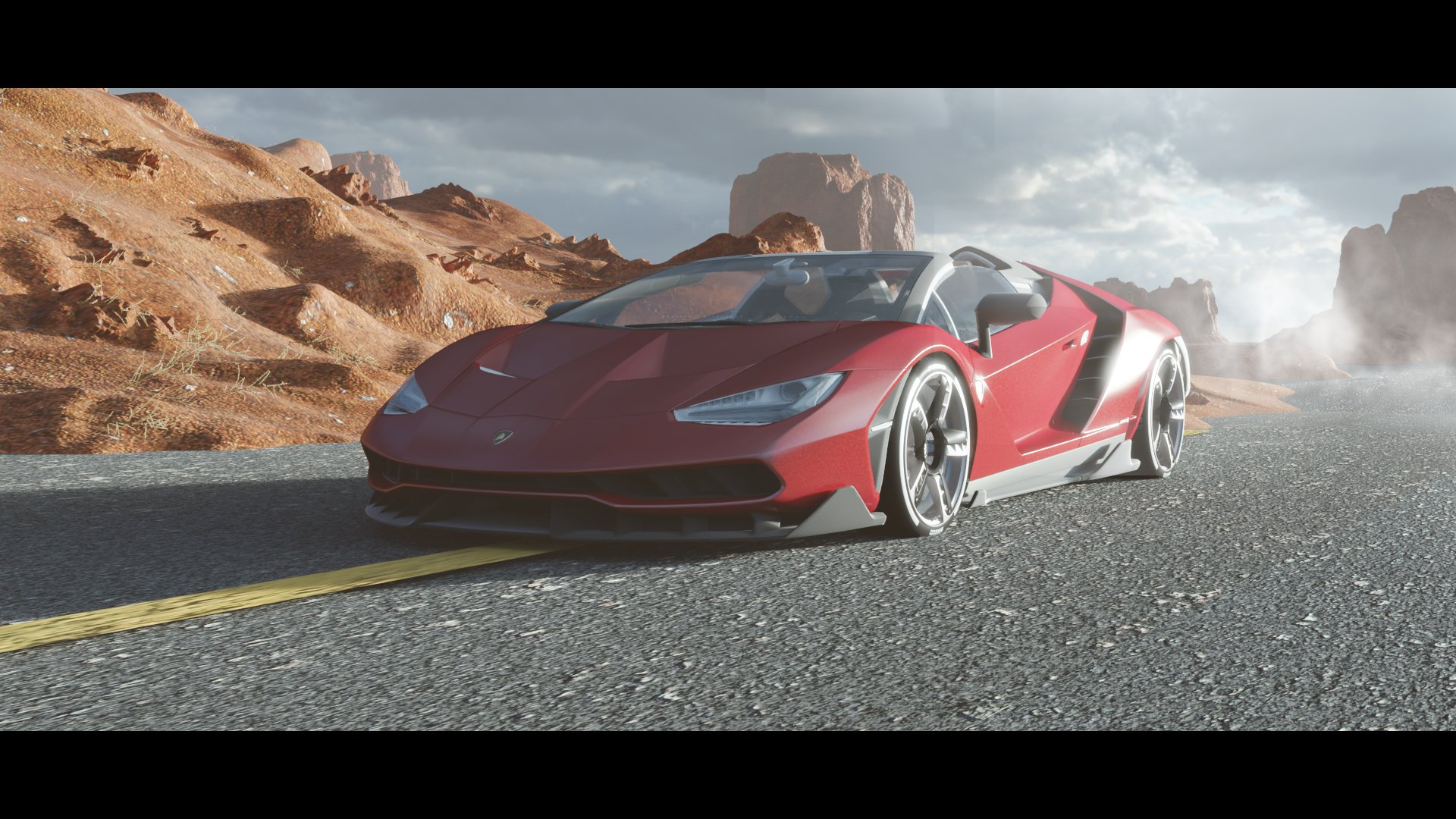 Desert's Lamborghini 3d art