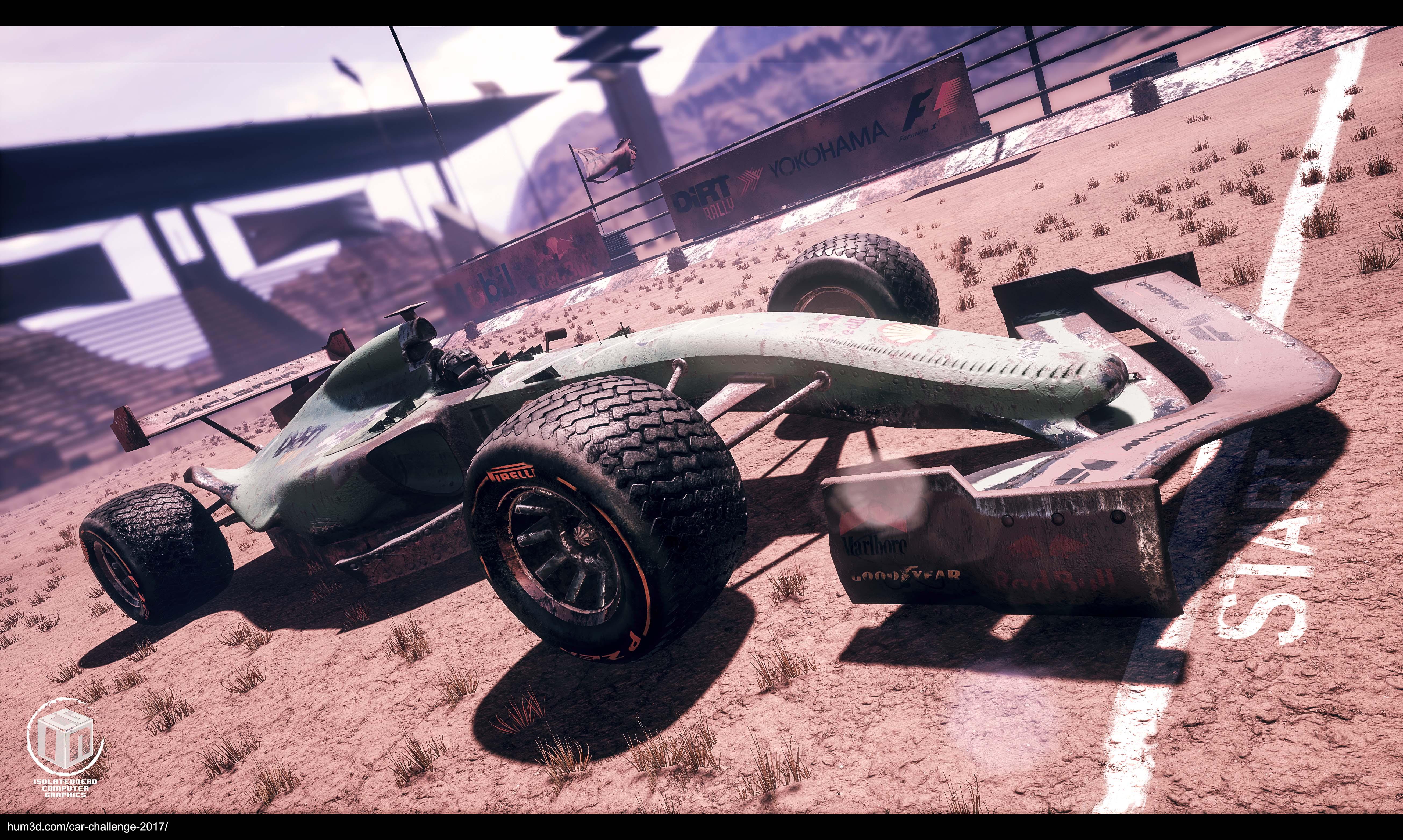 Dirt Formula 1 3d art