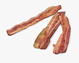 3D model of Fried Bacon