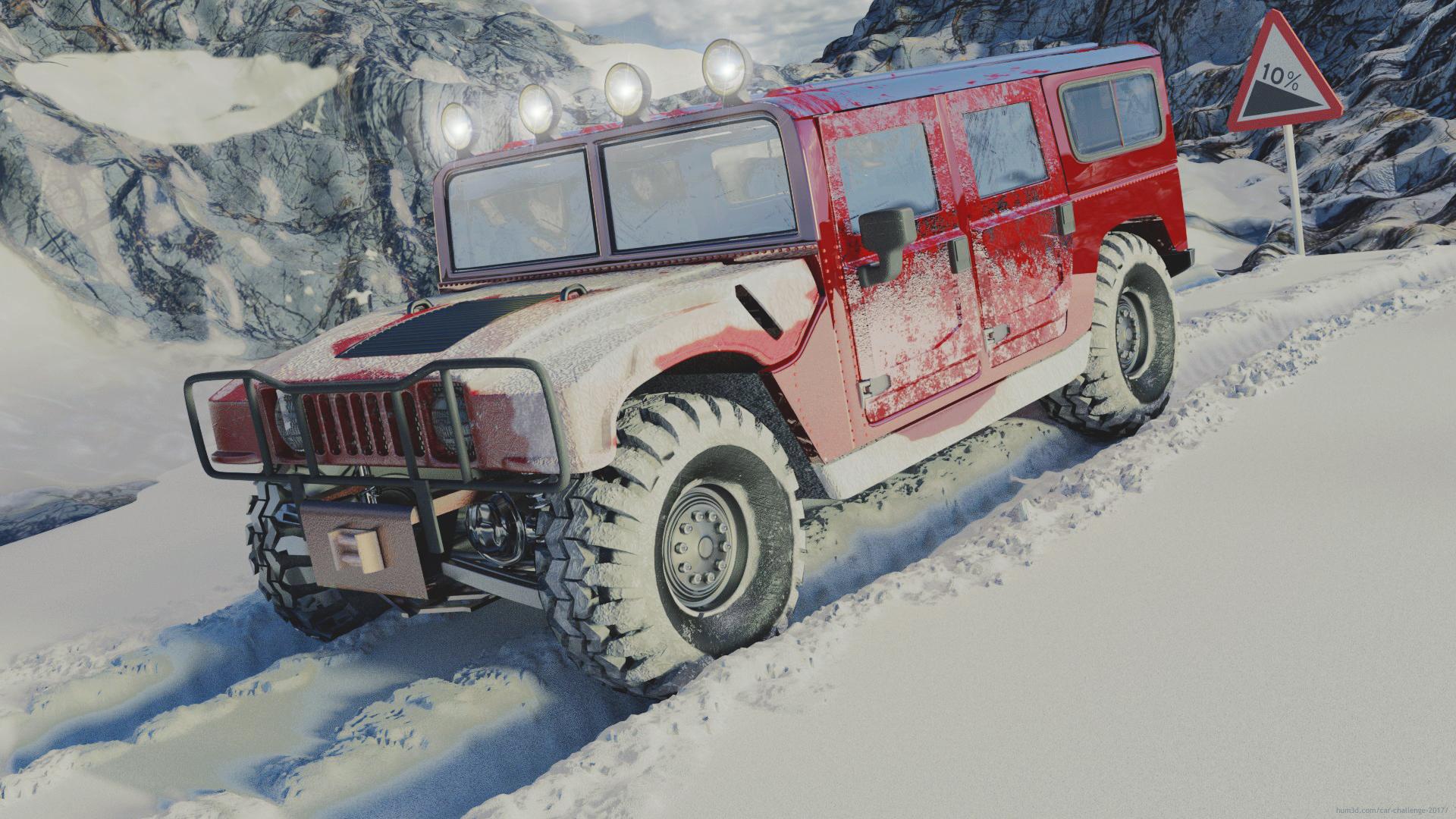 Snow and risky fun 3d art