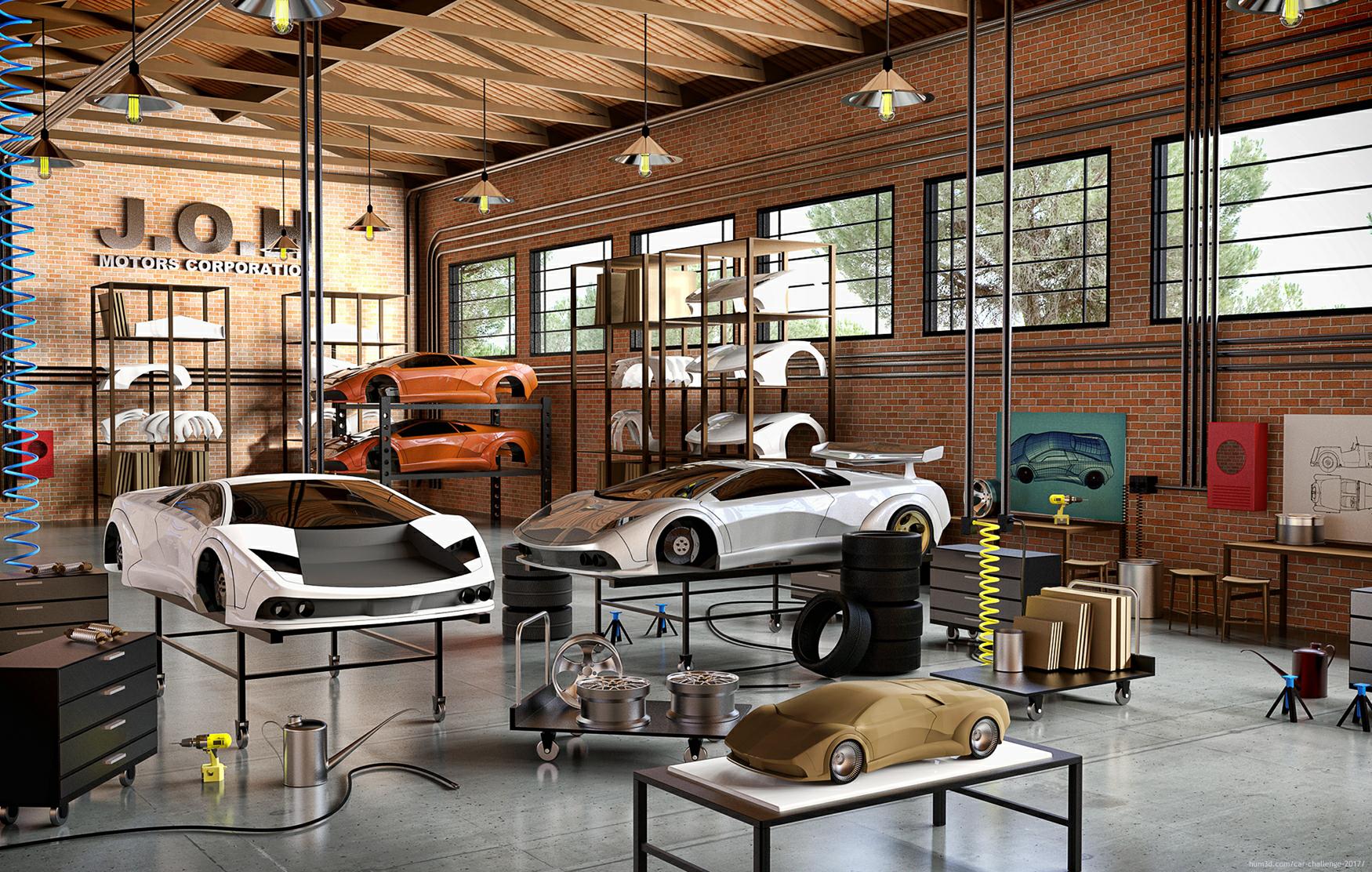 Building a Sport Car 3d art