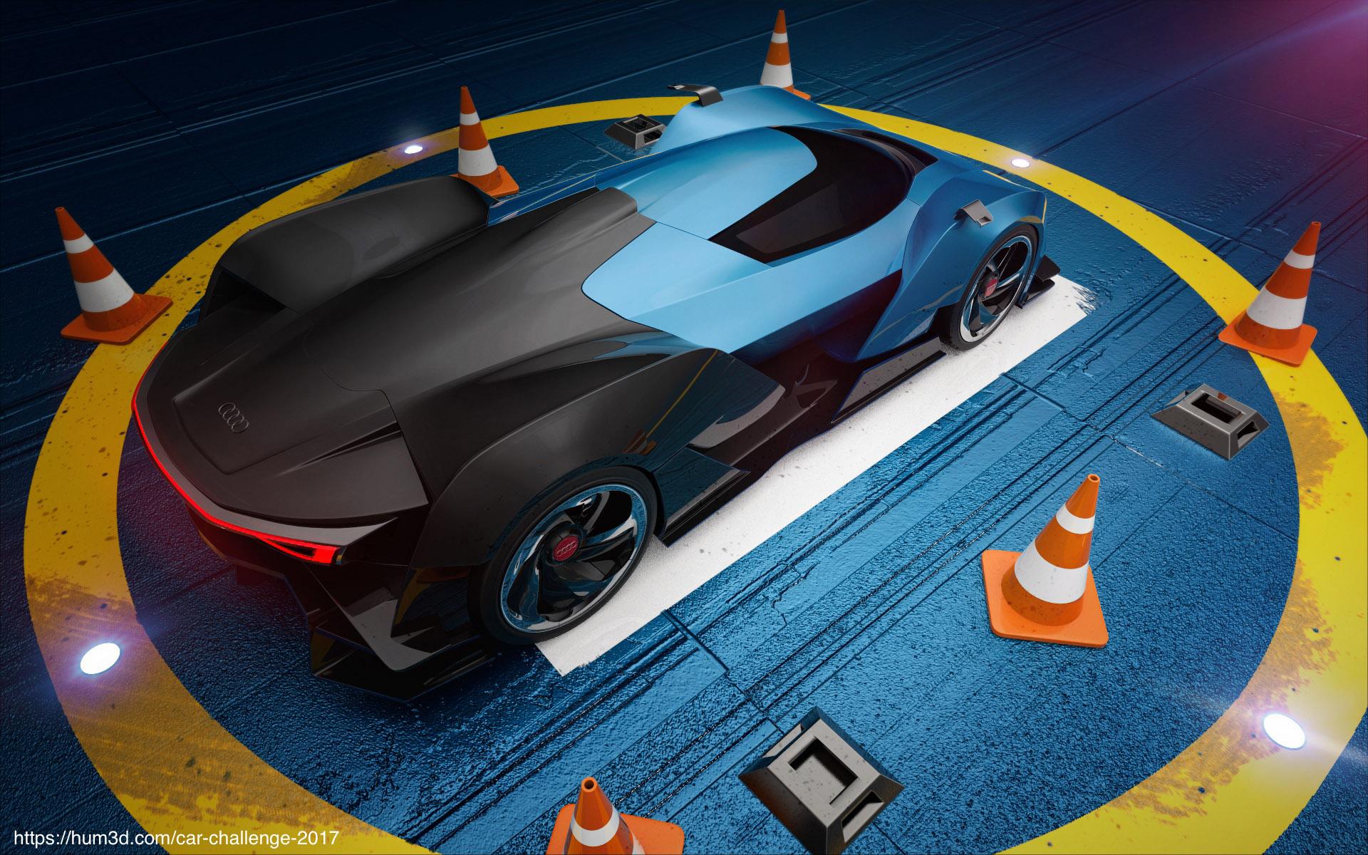 Landing automotive vibe 3d art