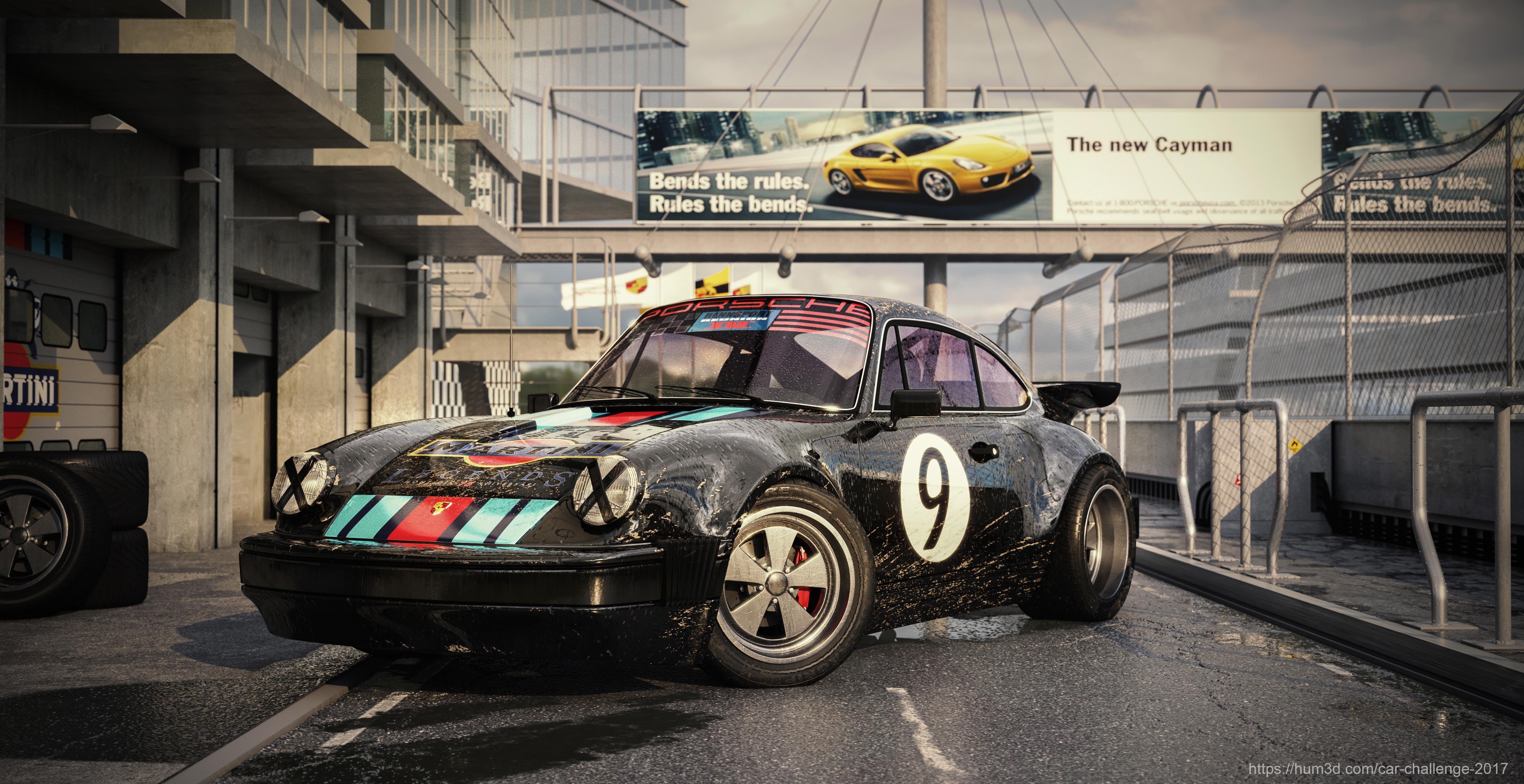 Classic Monster (Porsche 911 GT) 3d art