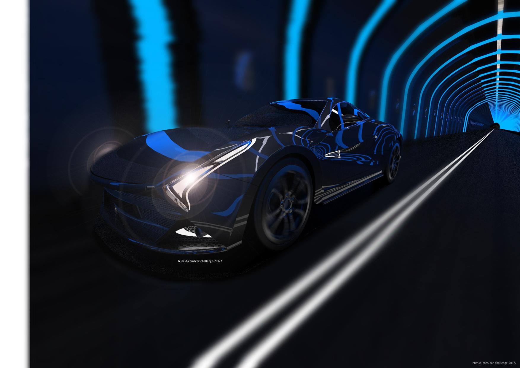 The rush toward the future 3d art