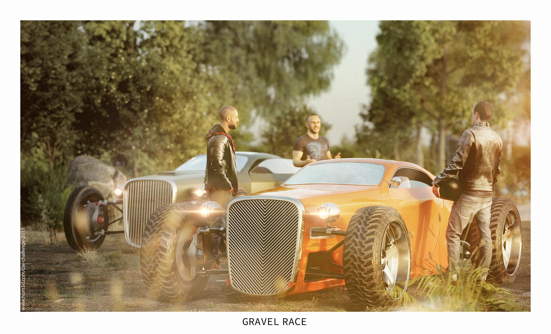 Gravel Race 3d art
