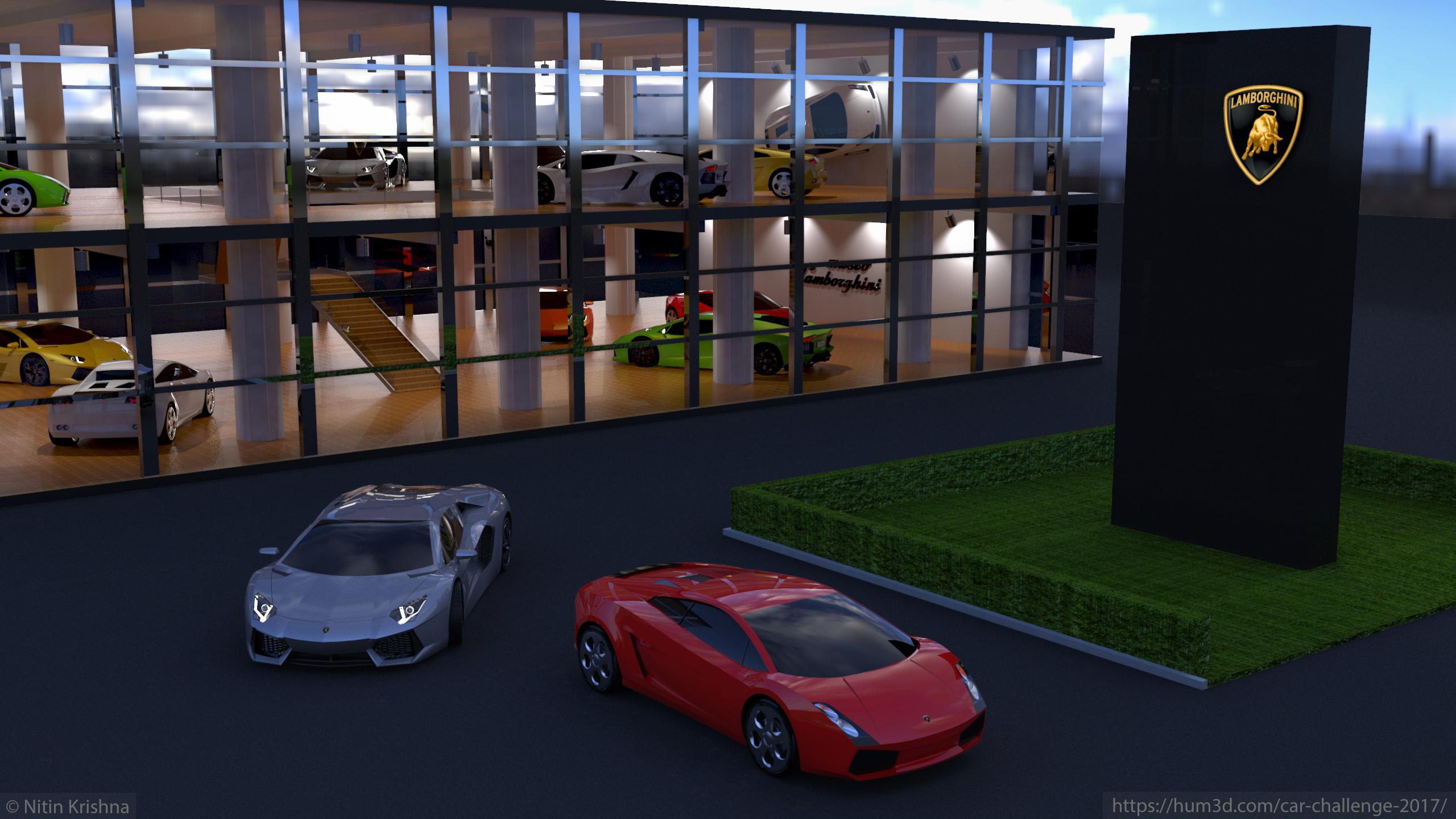 Museo Lamborghini 3d art