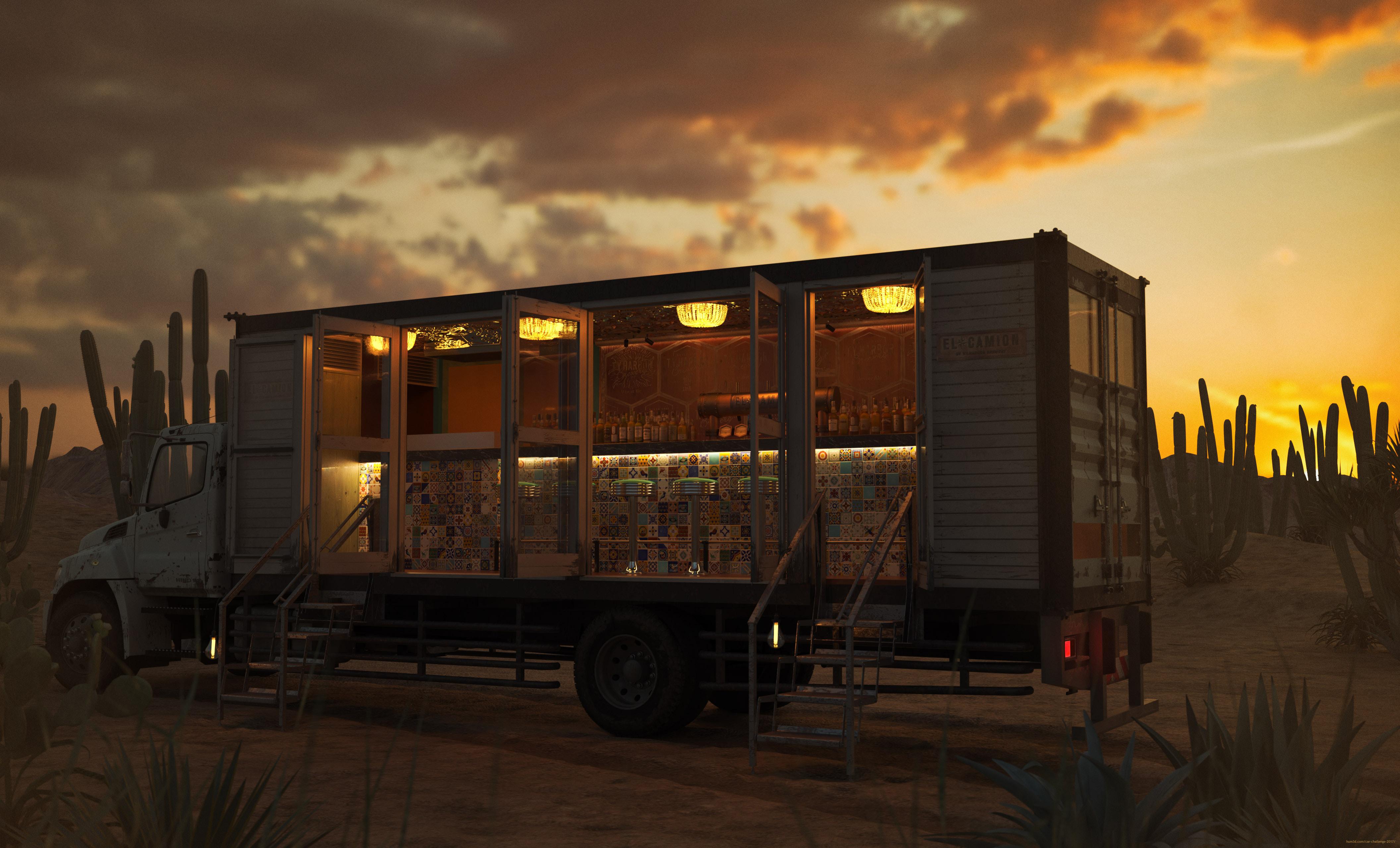 El Camion 3d art