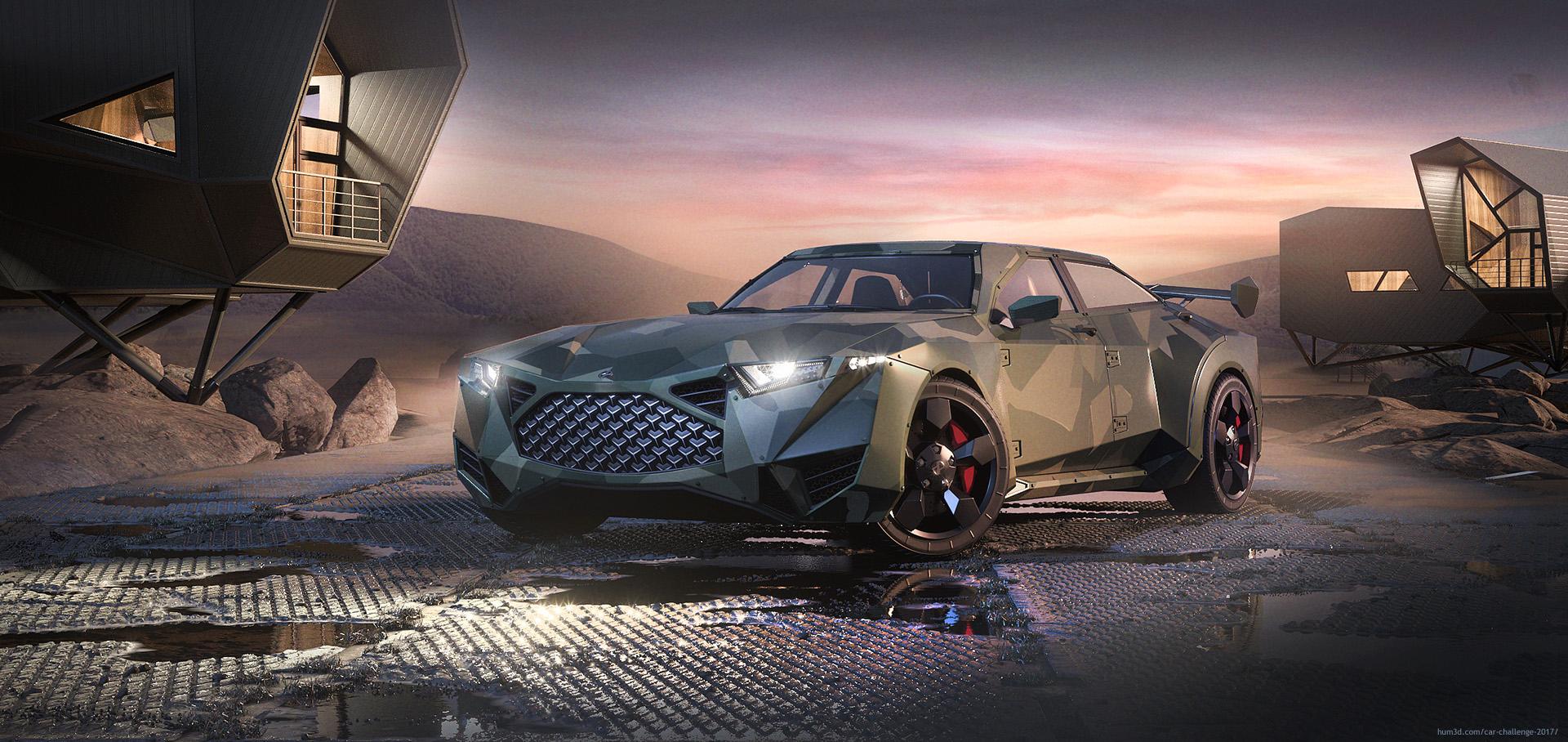 Military car design 3d art