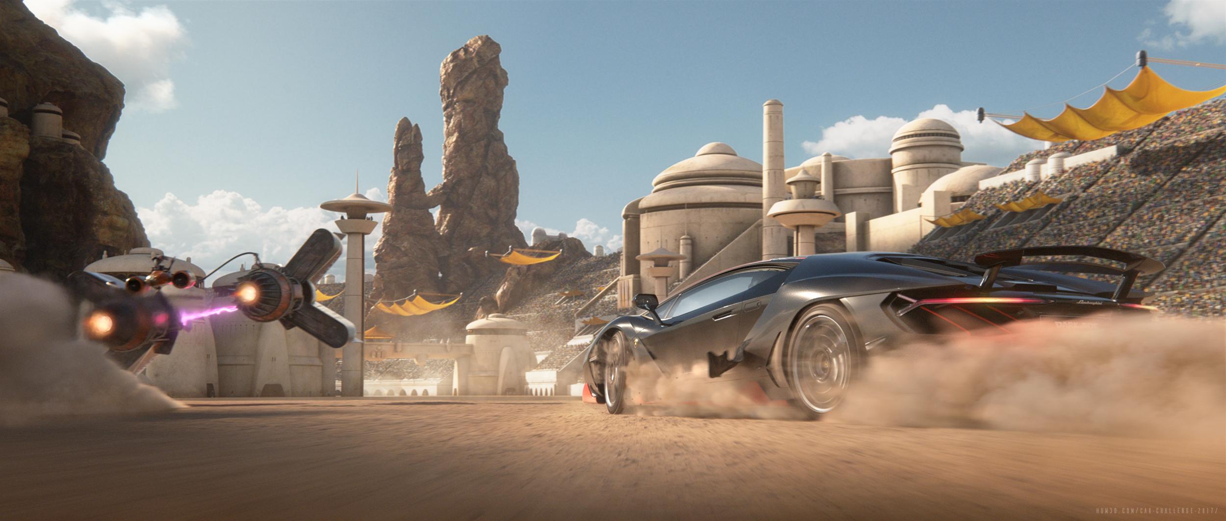 Return to Tatooine 3d art