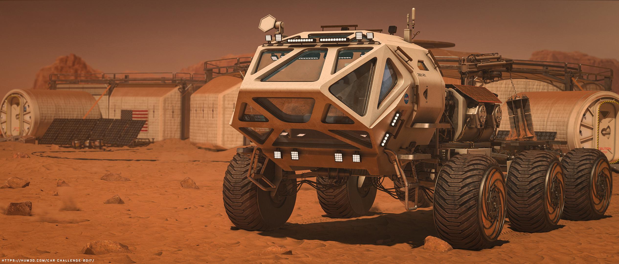 The Martian Rover 3d art