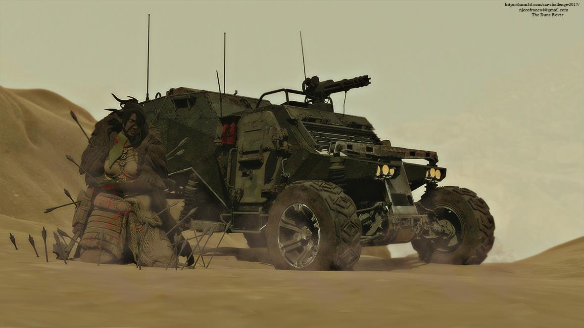 The Dune Rover 3d art